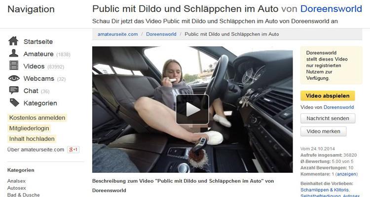 Dildosex im Auto