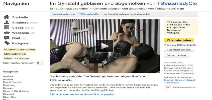 Sklave auf Gynostuhl