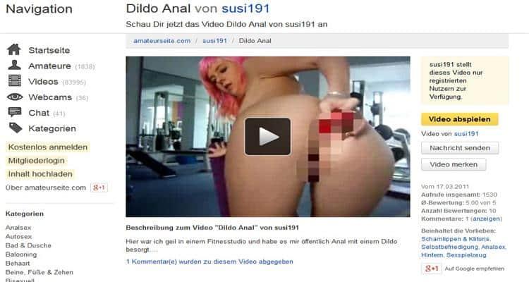 Dildo Analsex Fitnessstudio