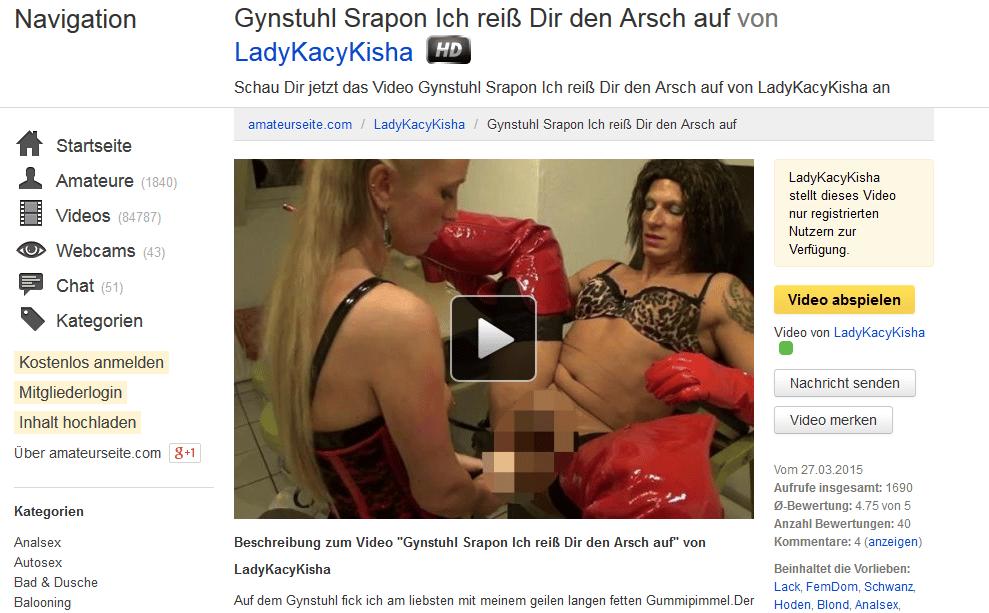 gynstuhl strapon