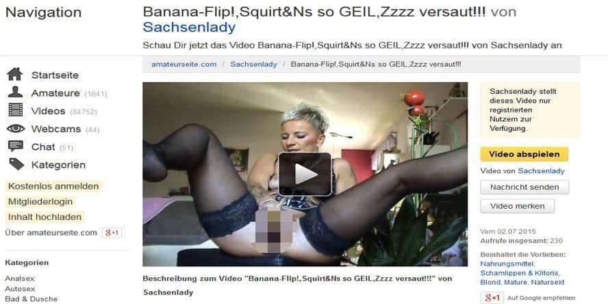 sex mit banane