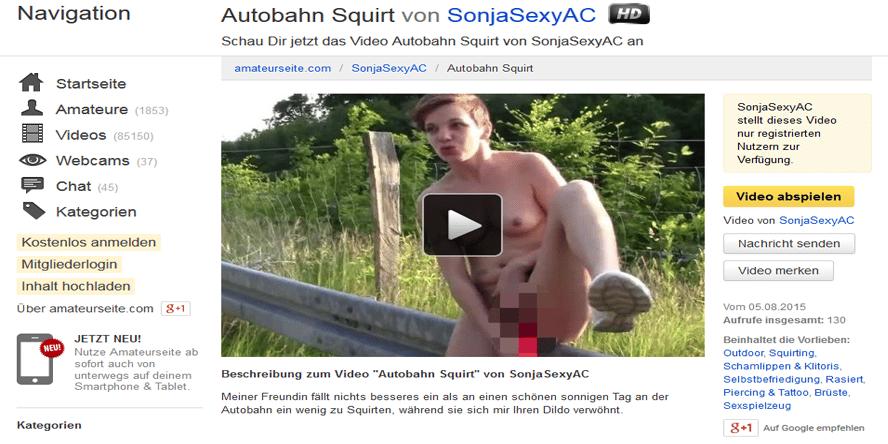 squriting an der autobahn