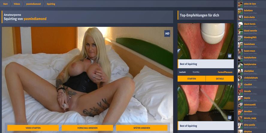 blondine mit dicken titten spritzt ab